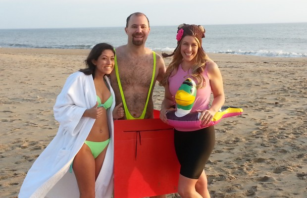 Video: Rock Girl Gina's Pre-Polar Plunge