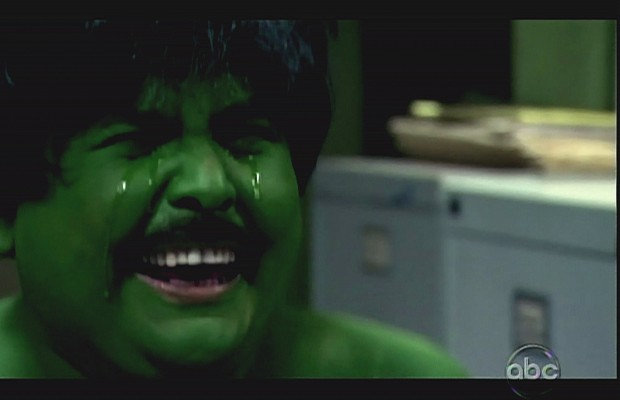 I was wearing an Incredible Hulk mask when I first saw you