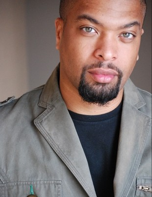 Funny Bone Comedian DeRay Davis in studio