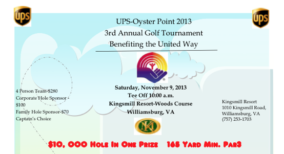 UPS-Oyster Point 2013 3rd Annual Golf Tournament
