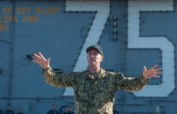 CNO, MCPON Spend Thanksgiving with USS Harry S. Truman