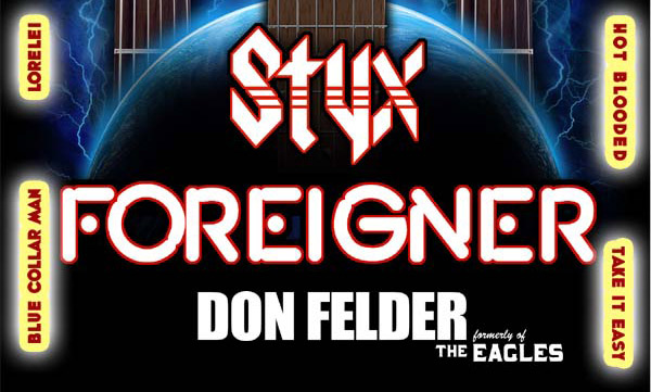 Styx, Foreigner and Don Felder (formerly of The Eagles)