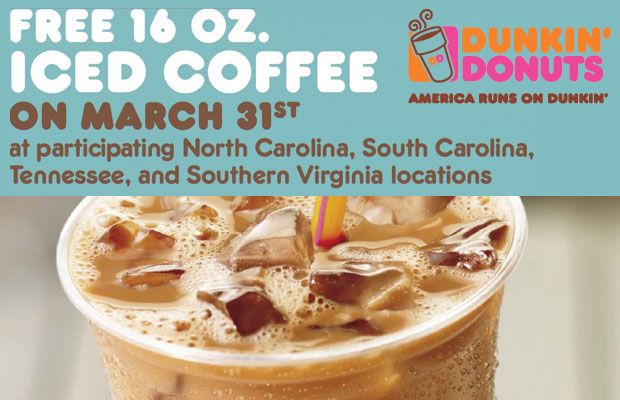 Free Iced Coffee Day at Dunkin' Donuts
