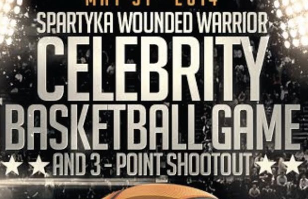 See Adam Play at the Spartyka Wounded Warrior Celebrity Basketball Game